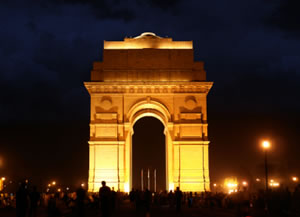 Picture of the famous India gate in New Delhi.
